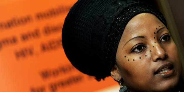 Criselda Kananda, a South African radio personality and Aids activists in
