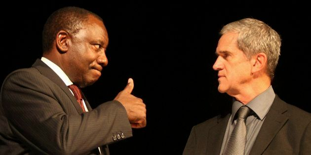 Former ANC chief negotiator, Cyril Ramaphosa and former National Party and government chief negotiator...