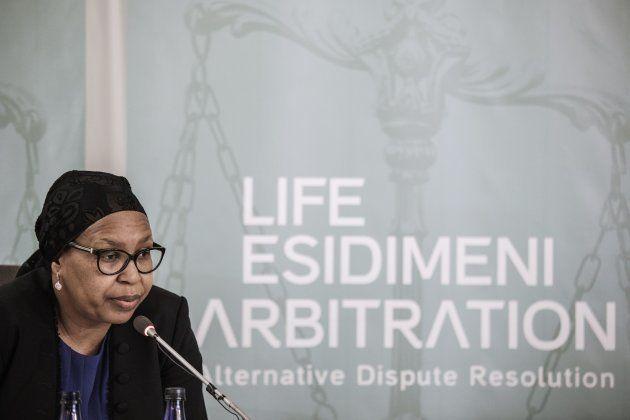 Former Gauteng Health MEC Qedani Mahlangu testifies at the Life Esidimeni arbitration public hearing...
