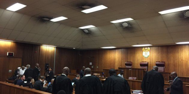 Court 6E in the High Court in Pretoria, where an application to suspend Shaun Abrahams is being