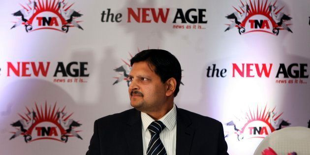 Atul Gupta at the launch of the new national daily newspaper, called The New Age, in