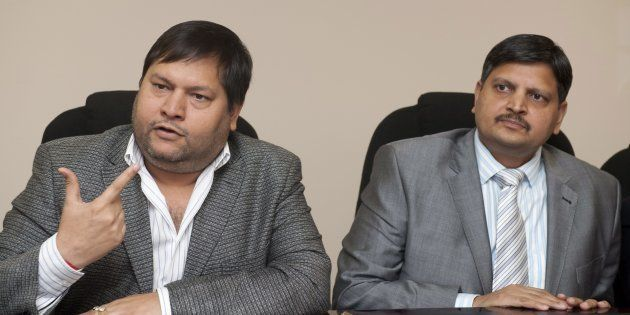 JOHANNESBURG, SOUTH AFRICA - 2 March 2011: Indian businessmen, Ajay Gupta (R) and younger brother Atul...