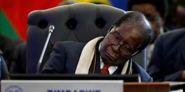 Former Zimbabwean President Robert Mugabe at the 37th Ordinary SADC Summit in