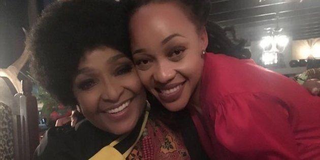 Winnie Madikizela-Mandela with Thando