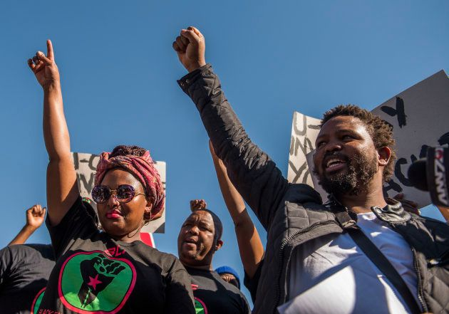 Andile Mngxitama and Zanele Lwaini of Black First Land