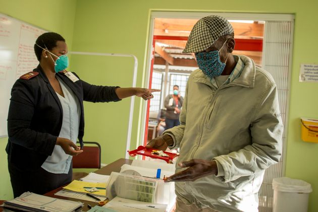 Simphiwe visits his local clinic in Kuyasa, Khayelitsha, every weekday to receive his daily clofazimine...