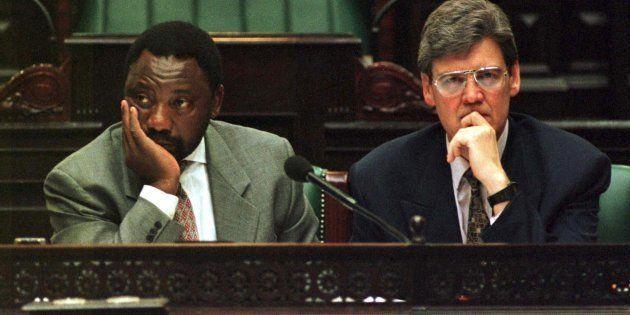 Cyril Ramaphosa and Leon