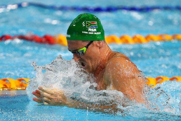 GOLD COAST, AUSTRALIA - APRIL 06: Cameron Van Der Burgh of South Africa competes during the Men's 100m...