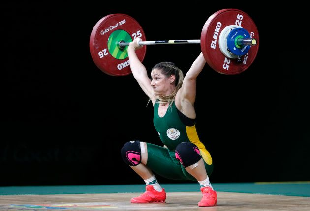 Weightlifting - Gold Coast 2018 Commonwealth Games - Women's 63kg Final - Carrara Sports Arena 1 - Gold...