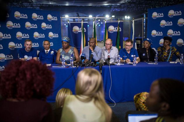 South African opposition party, Democratic Alliance (DA) leadership (L-R) Deputy Federal Chairperson...