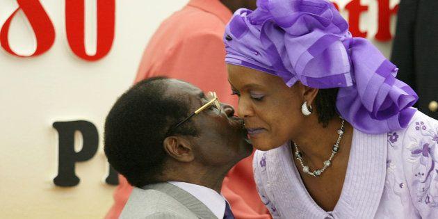 Robert Mugabe and his wife