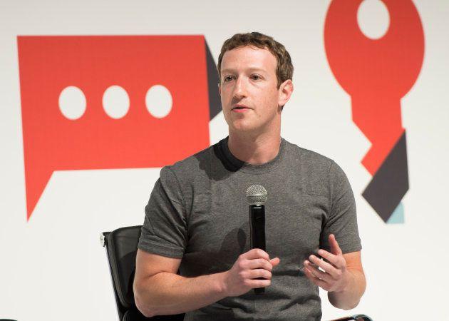 Mark Zuckerberg speaking at the Mobile World Congress 2015, Fia Barcelona Gran Via Conference Centre...