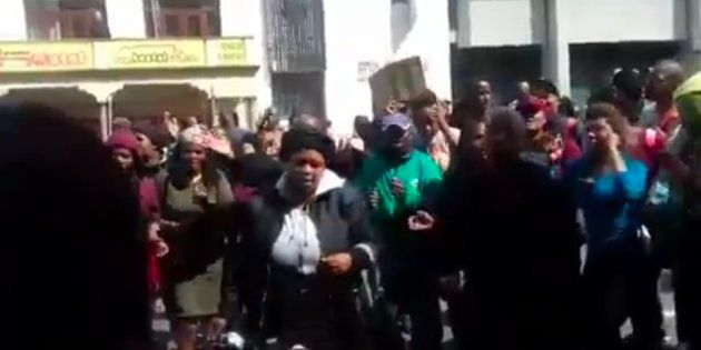 Students Protest In Cape Town CBD While Campus Remains On