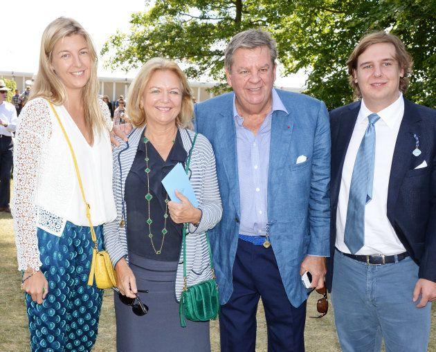 Caroline Rupert, Gaynor Rupert, Johann Rupert and Anton Rupert in Chichester, England, in