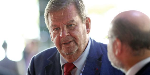 Billlionaire Johann Rupert, founder and chairperson of Compagnie Financière Richemont SA, speaks with...