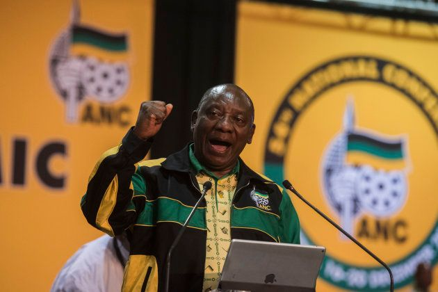 Cyril Ramaphosa during his 1st speech as the president of the ANC at 54th African National Congress (ANC)...