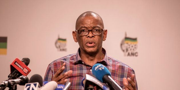 Ace Magashule briefs the press on January 22, 2018 in