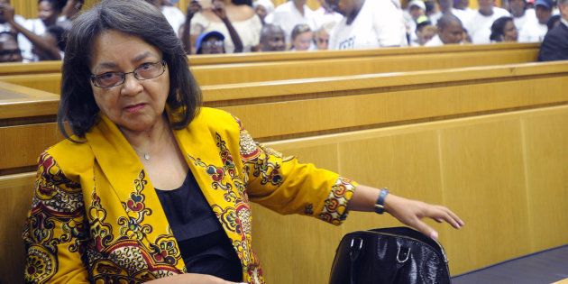 Patricia de Lille pictured during the case between her and the DA at the high court in Cape Town on February...