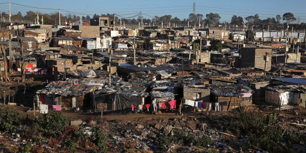 A general view shows Alexandra township, an informal settlement for thousands of South Africans who lack...