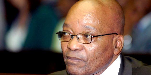 Jacob Zuma waits in the dock at Pietermaritzburg High Court February 4,