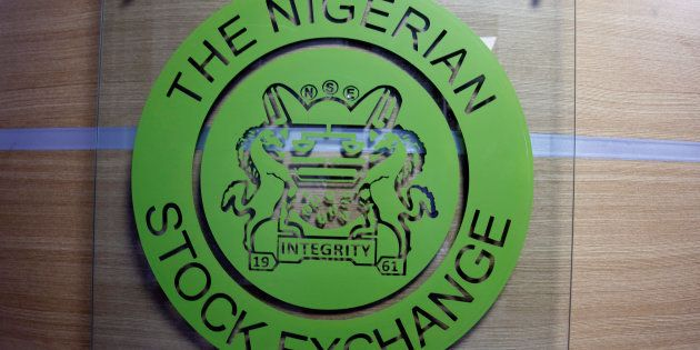 The logo of the Nigerian Stock Exchange is pictured in Lagos, Nigeria November 9,