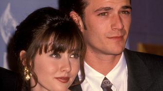 Shannen Doherty and Luke Perry at the 18th Annual People's Choice Awards, Universal Studios, Universal City. (Photo by Ron Galella/WireImage)