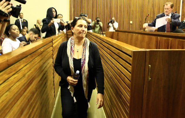 Convicted racist Vicki Momberg during sentencing at the Randburg Magistrates Court on March 28, 2018...