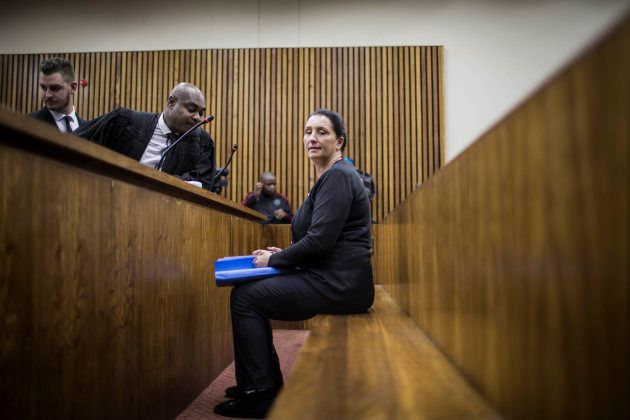 Convicted racist Vicki Momberg is pictured at the Randburg Magistrate Court to appeal the four charges...