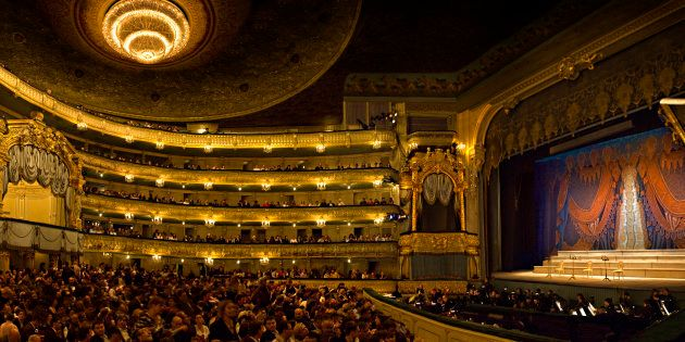 Crowd at Mariinsky Theatre, St. Petersburg,