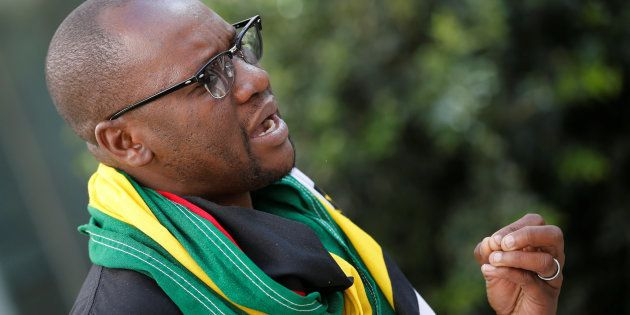 Zimbabwean Pastor Evan Mawarire in July in Johannesburg, South Africa. The pastor started the #This Flag...