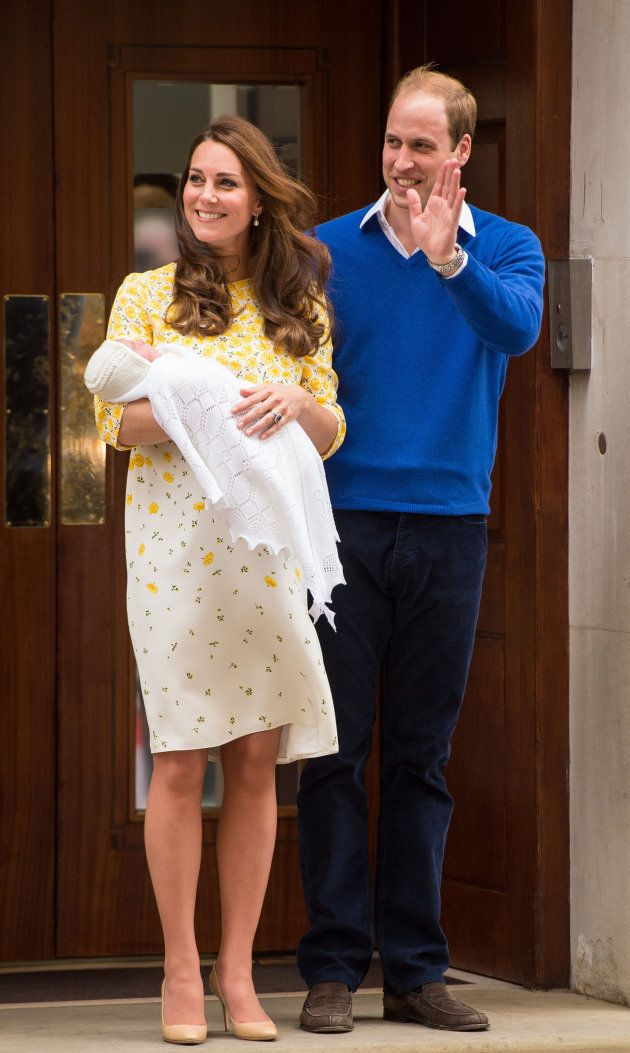 File photo dated 02/05/2015 of the Duke and Duchess of Cambridge and the newborn Princess of