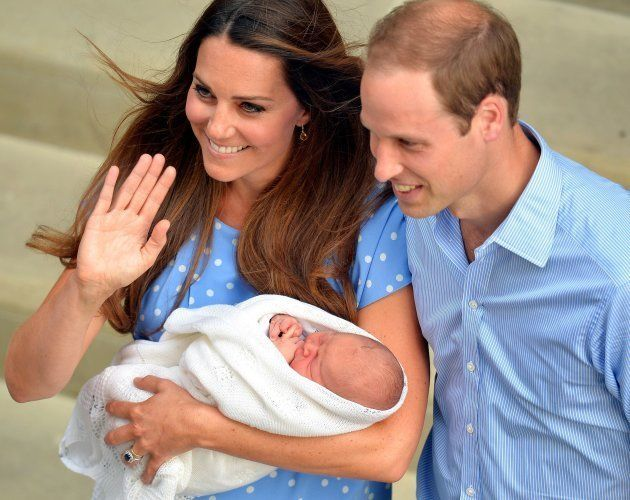 File photo dated 23/07/13 of the Duke and Duchess of Cambridge with their son Prince George of Cambridge...