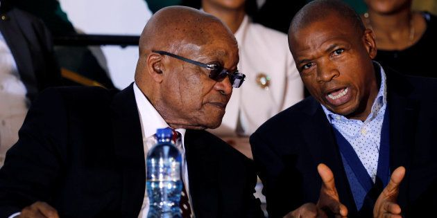 Jacob Zuma chats with North West premier Supra