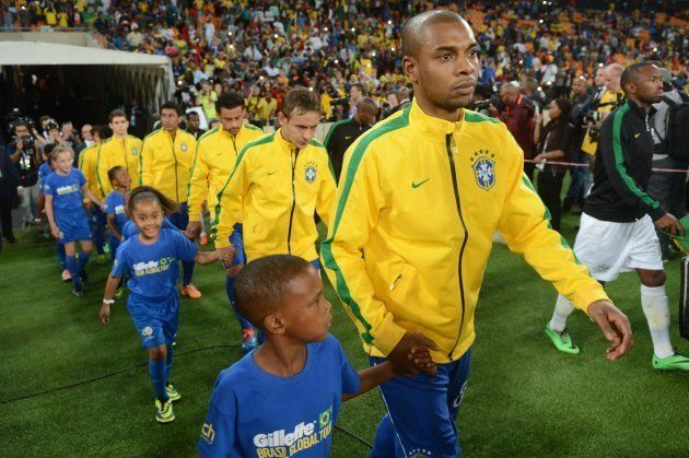 Brazil players during the International Friendly match between South Africa and Brazil at FNB Stadium...