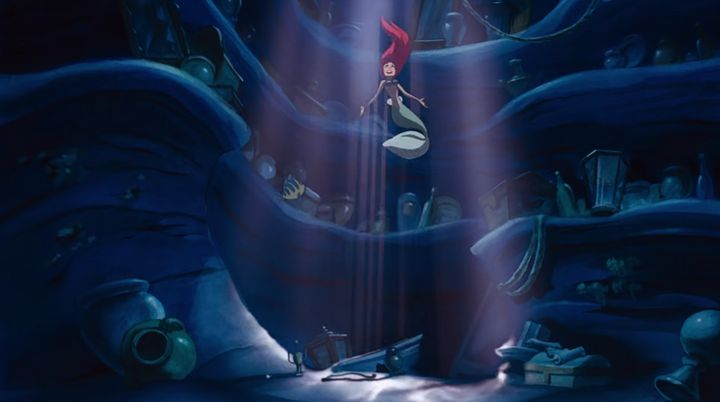 Ariel hides gadgets and gizmos a plenty in her undersea storage space.