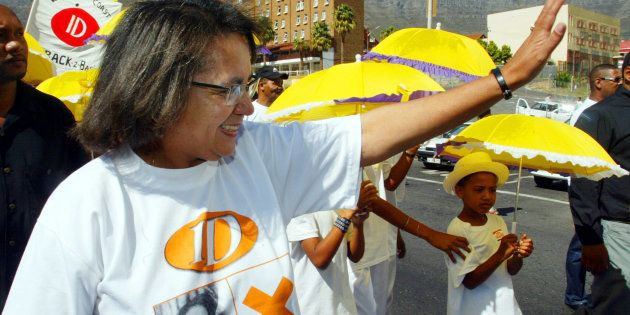 Patricia de Lille campaigning for the Independent Democrats in
