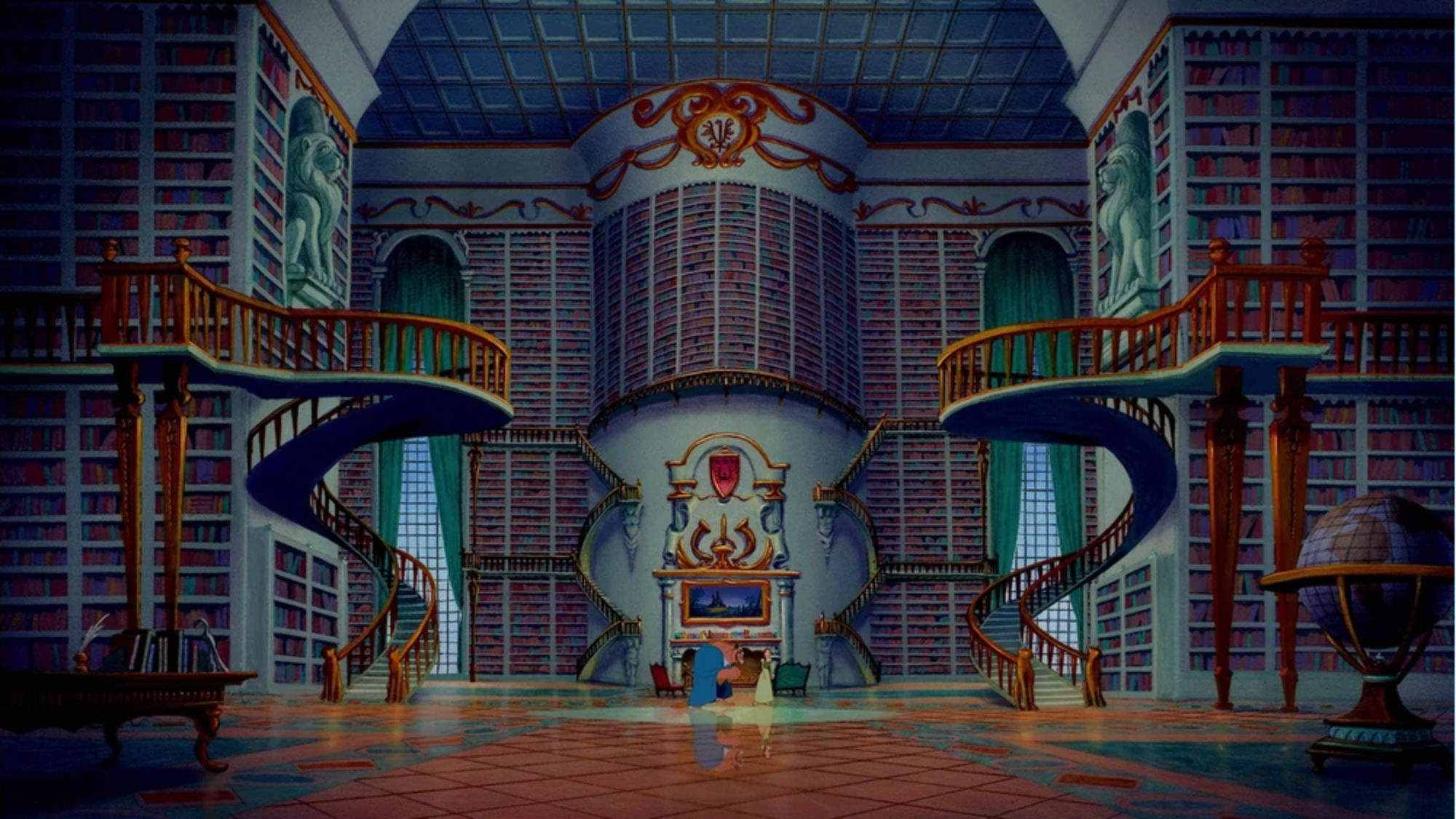 "The iconic library from ""Beauty and the Beast"" is just one of many enviable Disney design moments."