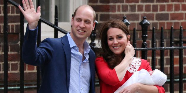 Britain's Prince William, Duke of Cambridge (L) and Britain's Catherine, Duchess of Cambridge aka Kate...