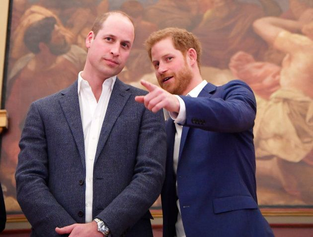 Prince William, Duke of Cambridge and Prince Harry attend the opening of the Greenhouse Sports Centre...