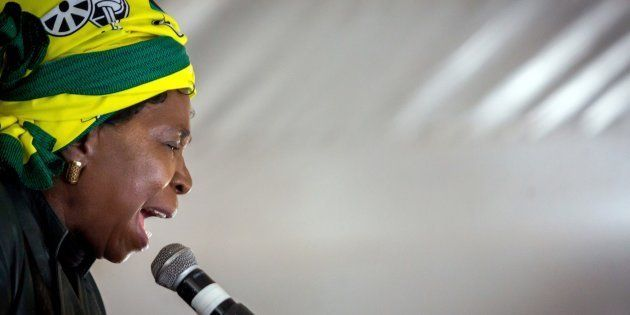 Nkosazana Dlamini-Zuma addresses her first campaign rally at the African National Congress (ANC) Cadres'...