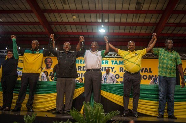 African National Congress top six elected in December last