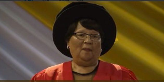 72-year old Dephyne Murray, who recently graduated with a PhD in