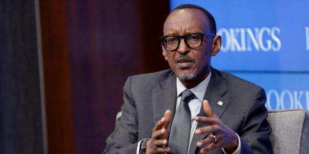 Rwandan president Paul Kagame speaks