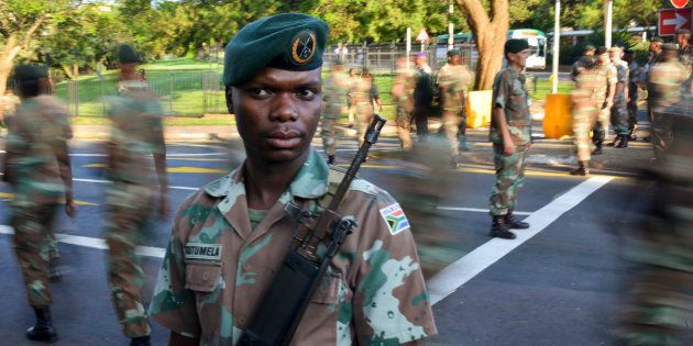 Members of the South African National Defence