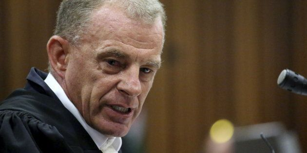 State prosecuter Gerrie Nel during Oscar Pistorius' bail hearing in