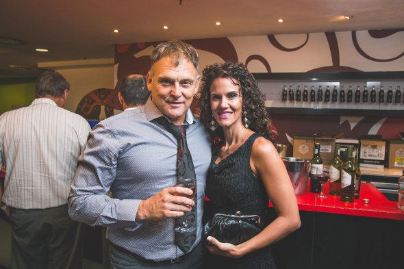 Afrikaner activist and singer Steve Hofmeyr and his wife, Janine, at the launch of AfriForum's documentary...