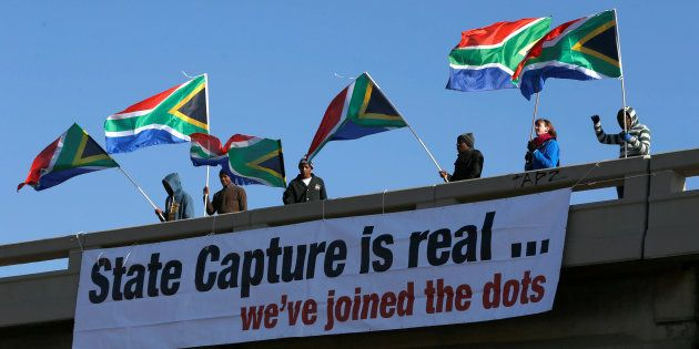 Protesters ahead of the ANC national policy conference at Nasrec, Johannesburg. June 30