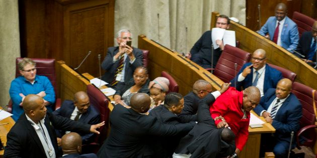 The EFF gets removed from Parliament frequently - one of the reasons the media need a proper signal for...