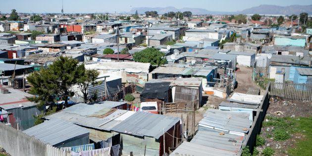 Shacks are seen at an informal settlement near Cape Town, South Africa, September 14,