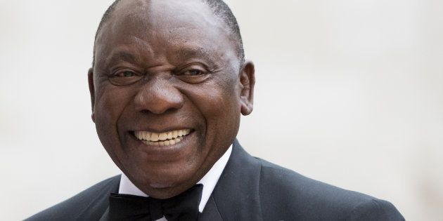 President Cyril Ramaphosa at the City of London Corporation's Commonwealth Business Forum Banquet on...